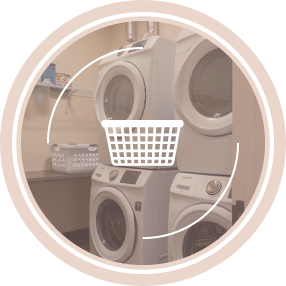 Free washers and dryers provided for your convenience