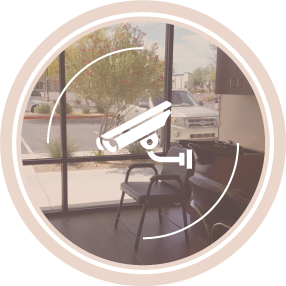 Onsite security system with cameras in every location.